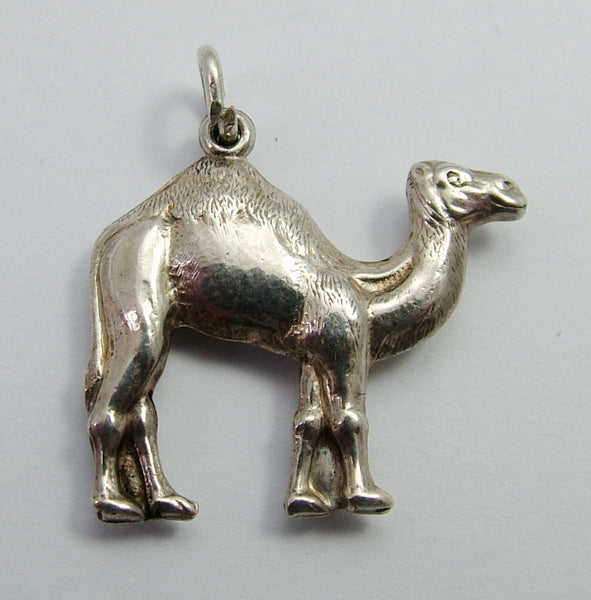 Vintage 1920's/1930's Silver Hollow Camel Charm 1920s-1950s Charm - Sandy's Vintage Charms