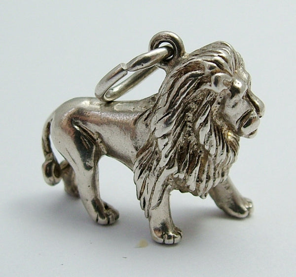 Vintage 1960's Solid Silver Lion Charm HM 1969 Silver Charm - Sandy's Vintage Charms