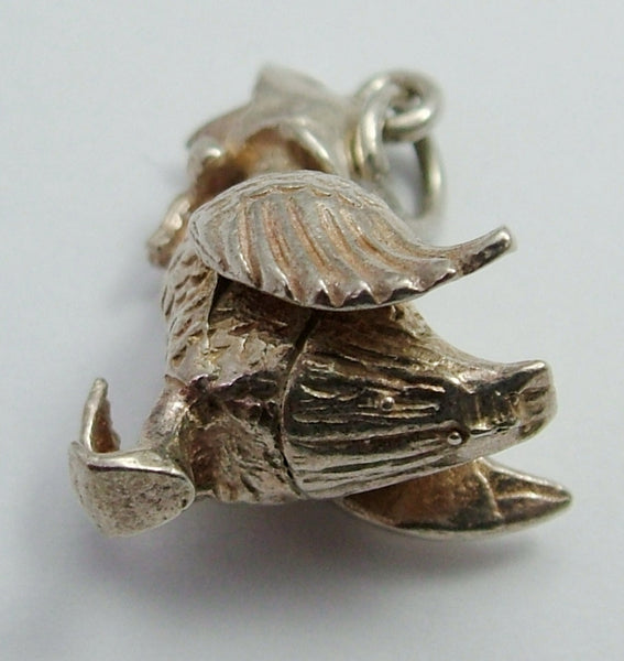 Vintage 1970's Solid Silver Jemima Puddleduck Charm Silver Charm - Sandy's Vintage Charms
