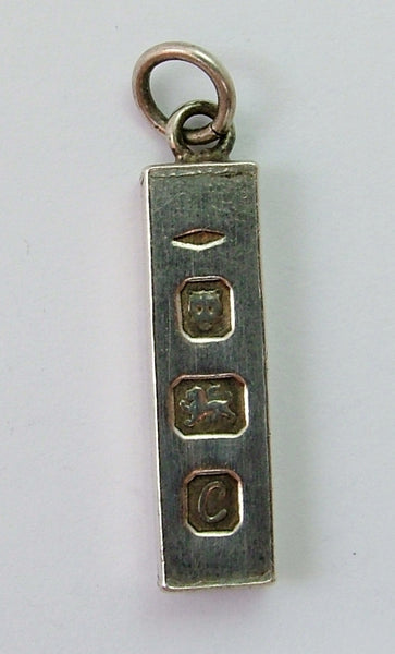 Vintage 1970's Solid Silver Miniature Ingot Charm HM 1977 Silver Charm - Sandy's Vintage Charms