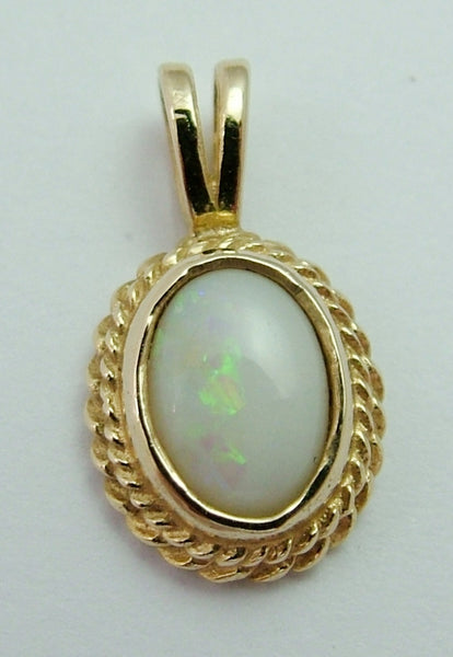 Small Vintage 1990's 9ct Gold & Opal Charm or Pendant Gold Charm - Sandy's Vintage Charms
