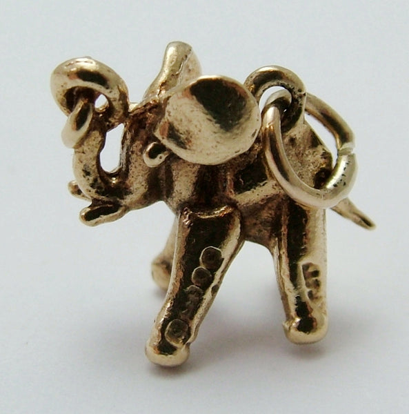 Small Vintage 1970's Solid 9ct Gold Elephant Charm Gold Charm - Sandy's Vintage Charms