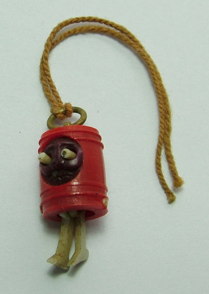 Vintage 1920's Celluloid Japanese Kobe Charm With Pop Out Eyes & Moving Legs