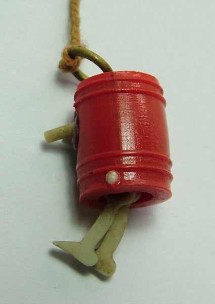 Vintage 1920's Celluloid Japanese Kobe Charm With Pop Out Eyes & Moving Legs 1920s-1950s Charm - Sandy's Vintage Charms