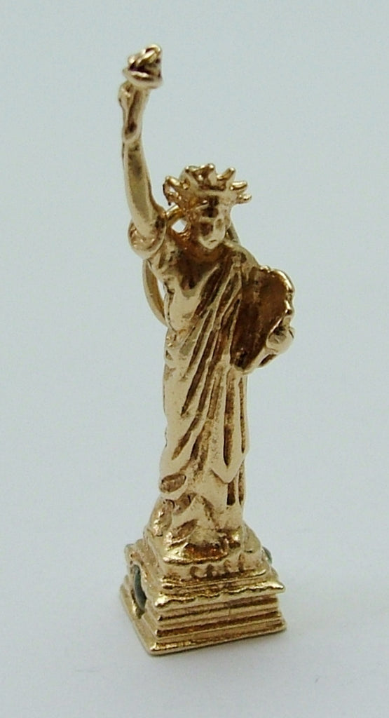 Vintage 1960's/70's Solid 14k 14ct Gold Statue of Liberty Stanhope Charm Gold Charm - Sandy's Vintage Charms