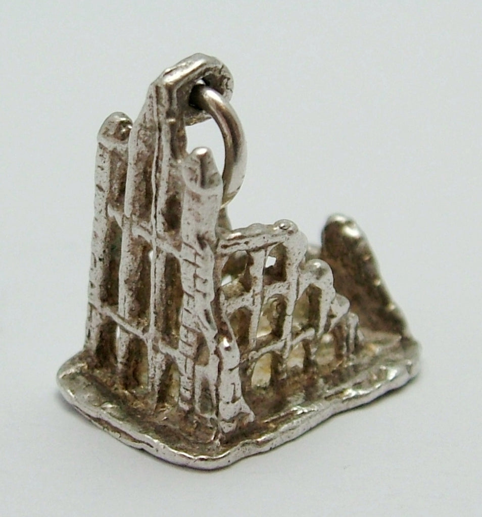 Vintage 1970's Silver Whitby Abbey Charm Silver Charm - Sandy's Vintage Charms