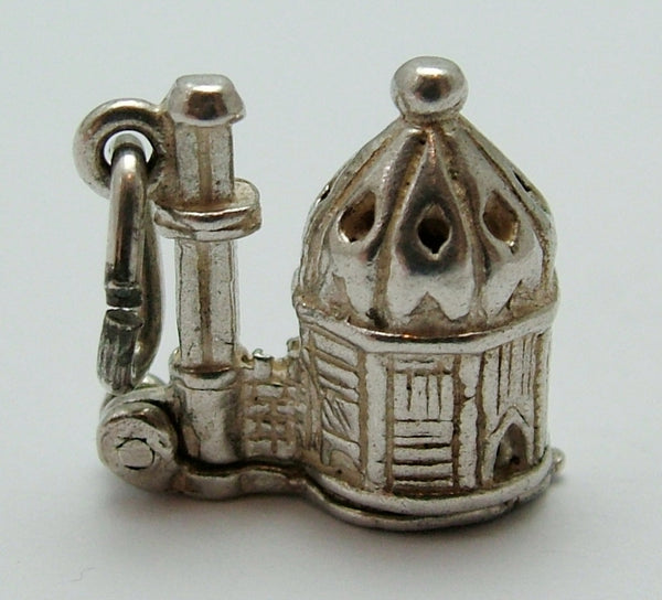 Vintage 1960's Silver Opening Nuvo Mosque Charm Man Praying Inside Nuvo Charm - Sandy's Vintage Charms