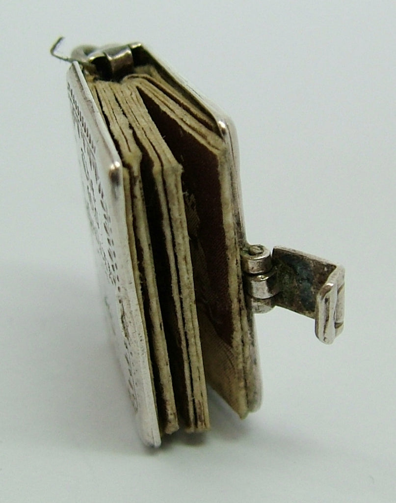Old English Charm: 1960's Silver Opening 'The Old Masters' Book Charm Paper