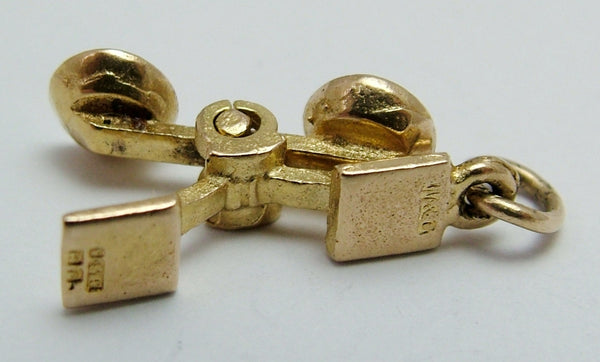 Vintage 1960's 9ct Gold Moving Weighing Scales Charm Gold Charm - Sandy's Vintage Charms
