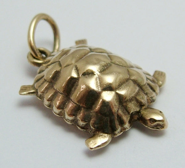Vintage 1970's 9ct Gold Puffed Tortoise Charm Gold Charm - Sandy's Vintage Charms
