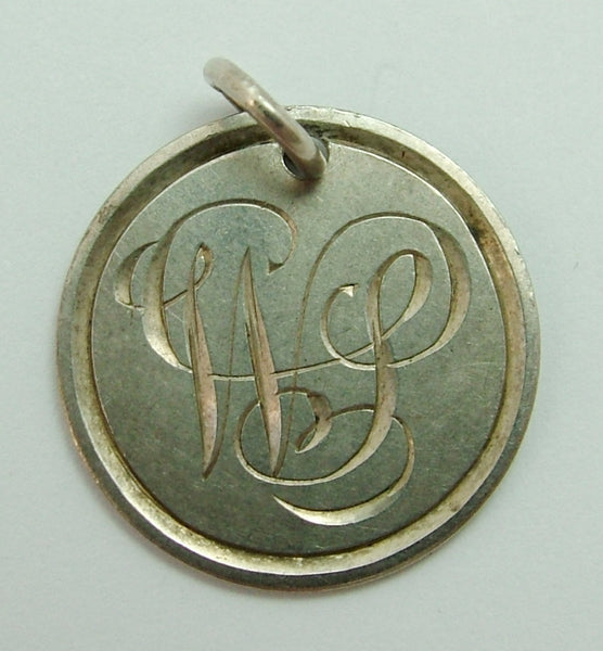 Antique Victorian Silver Engraved Love Token Coin Charm WS Love Token - Sandy's Vintage Charms