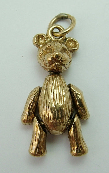 Vintage 1980's Solid 9ct Gold Articulated Teddy Bear Charm Gold Charm - Sandy's Vintage Charms