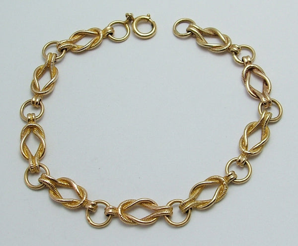Vintage 1960's English Solid 9ct Gold Bracelet with Bolt Ring Fastener Bracelet - Sandy's Vintage Charms