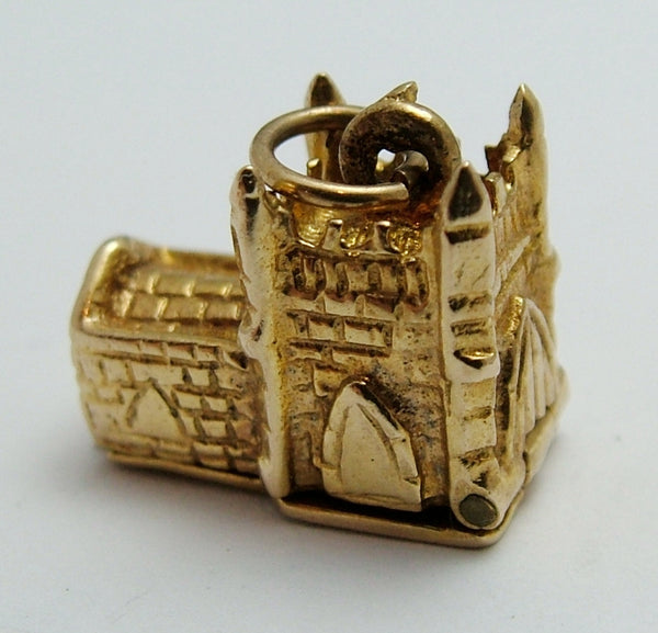 Vintage 1960's 9ct Gold Opening Church Charm With Wedding Inside Gold Charm - Sandy's Vintage Charms