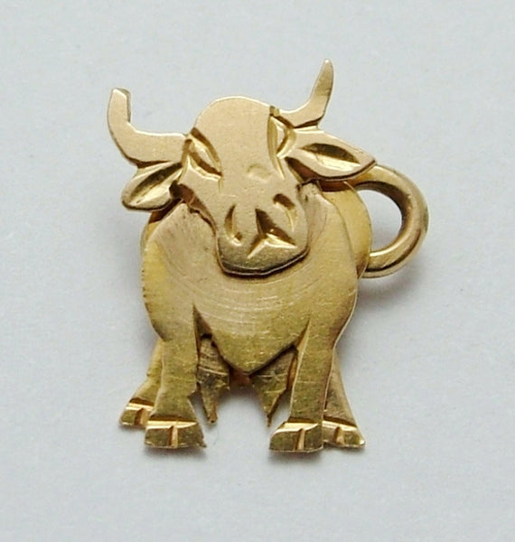 Vintage 1930's/40's Articulated 18k 18ct Gold Cow Charm Gold Charm - Sandy's Vintage Charms