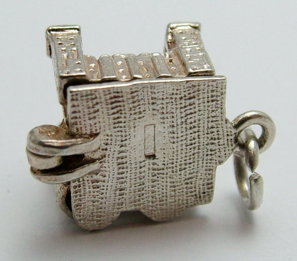 Vintage 1970's Silver CHIM Tower of London Charm Opens to Axe & Head Block Silver Charm - Sandy's Vintage Charms