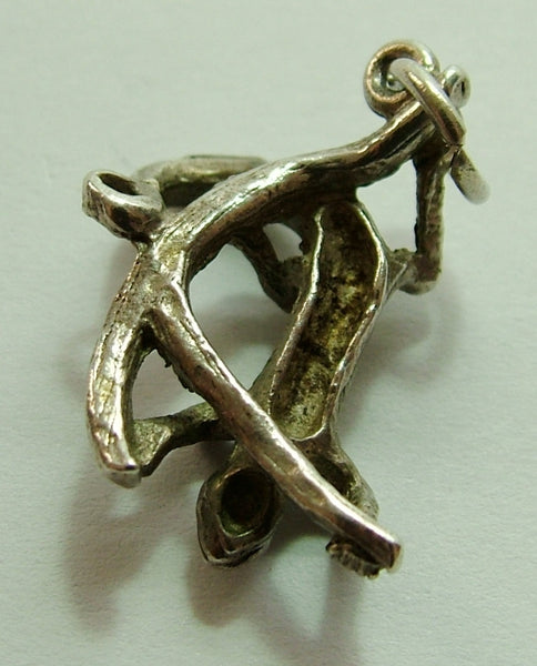 1970's Solid Silver Lizard Charm Silver Charm - Sandy's Vintage Charms