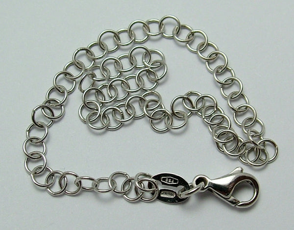 Modern Secondhand Solid 18k 18ct White Gold Bracelet with Lobster Clasp Bracelet - Sandy's Vintage Charms