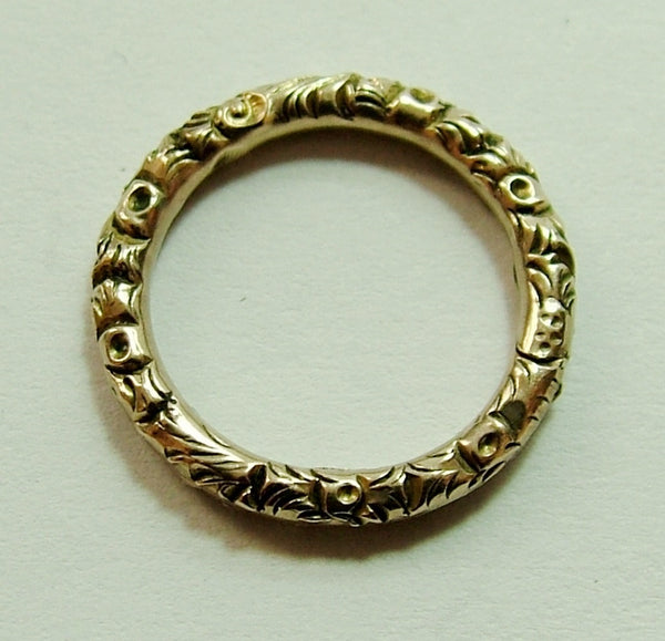 Antique Georgian Solid 15ct Gold Split Ring for Fobs & Charms 15mm Antique Charm - Sandy's Vintage Charms
