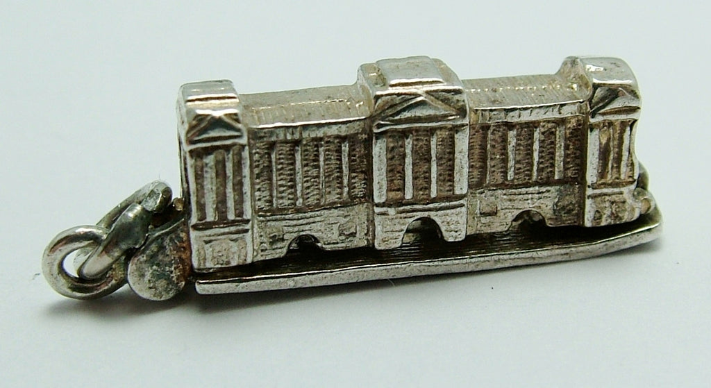 "Vintage 1960's Silver Chim Buckingham Palace Charm Opens to ""EIIR"" Chim Charm - Sandy's Vintage Charms"
