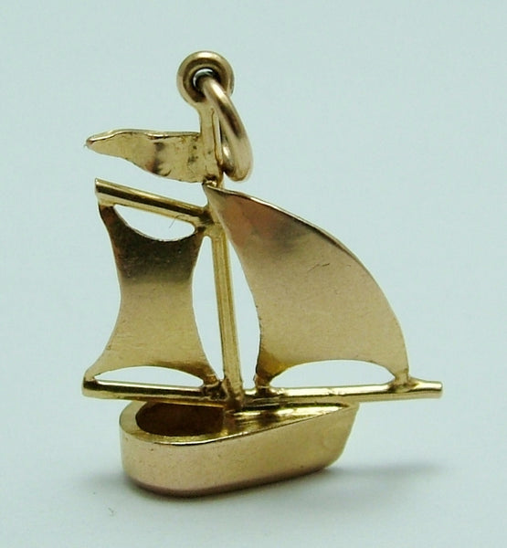 Vintage 1930's 18k 18ct Gold Sailing Yacht Charm Gold Charm - Sandy's Vintage Charms