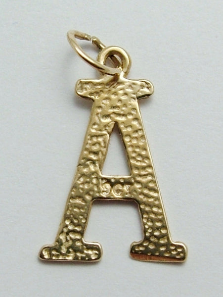 Vintage 1960's Solid 9ct Gold Letter 'A' Charm Gold Charm - Sandy's Vintage Charms