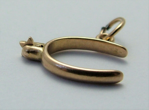 Small Vintage 1930's 18k 18ct Gold Moving Boot Spur Charm Gold Charm - Sandy's Vintage Charms