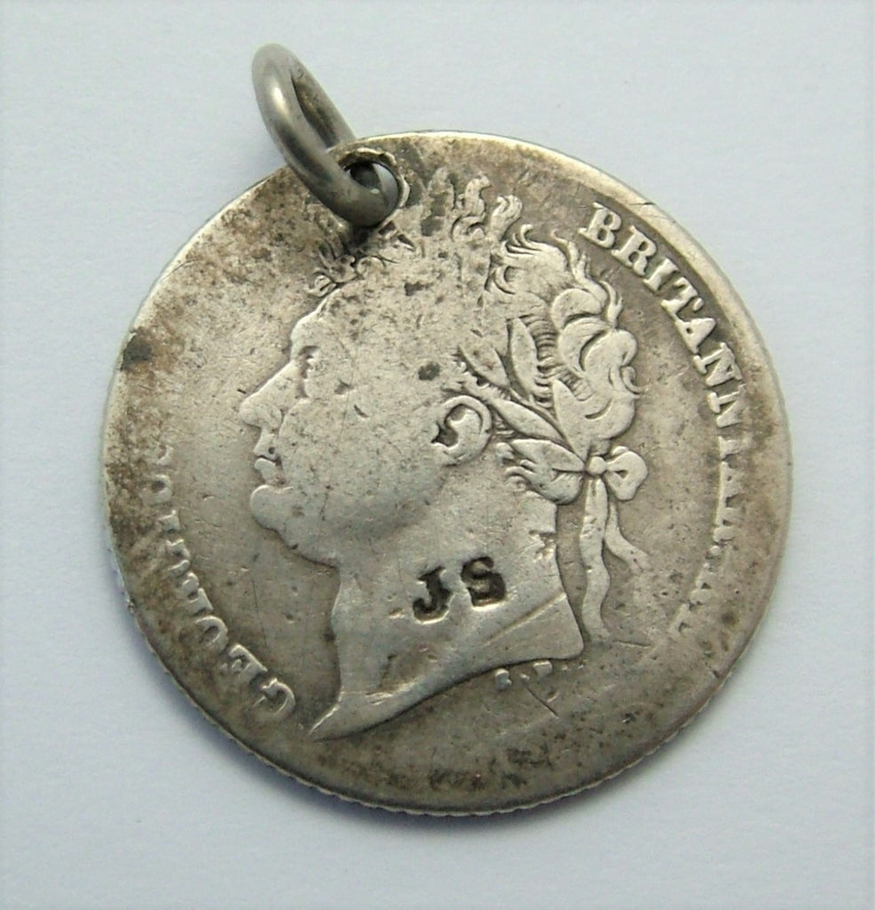 Antique Georgian 1828 Silver Love Token Coin Charm JS Love Token - Sandy's Vintage Charms
