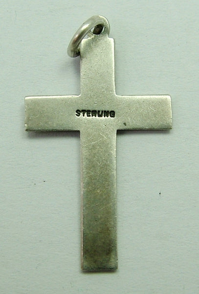 1930's-1950's Silver Cross Charm 1920s-1950s Charm - Sandy's Vintage Charms
