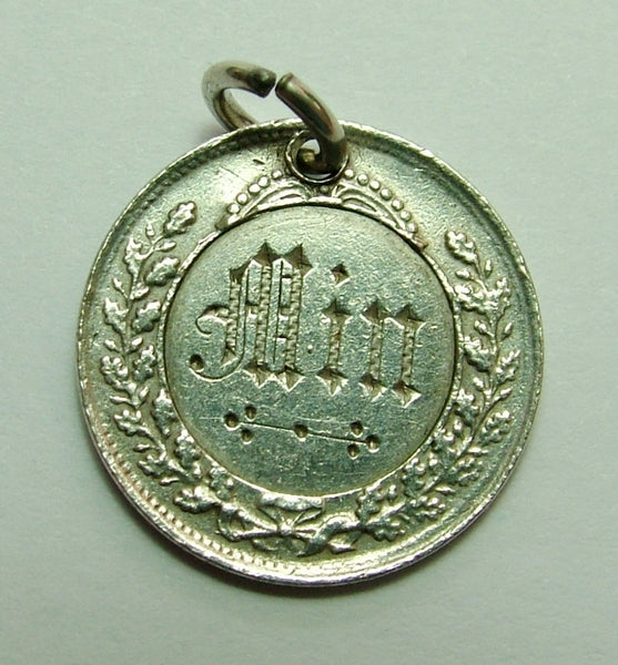 Antique Victorian Silver Engraved Love Token Coin Charm MIN Love Token - Sandy's Vintage Charms