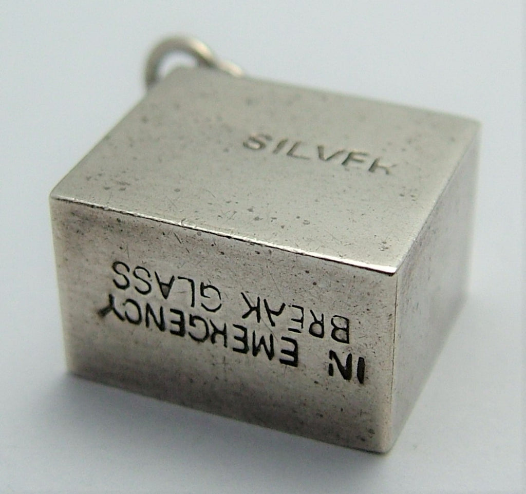 English Charm Sterling Silver 10 Shilling Emergency Note Charm For Bracelets,Charms For Necklace,Rare Charm,60s Charm,Vintaged Charm