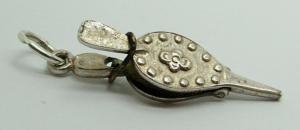 1960's Silver Nuvo Charm Pair of Bellows - You Can Actually Squeeze Them Nuvo Charm - Sandy's Vintage Charms