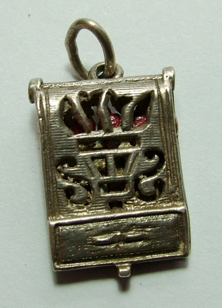 1960's Silver Opening Nuvo Match Book Charm with Matches Inside Nuvo Charm - Sandy's Vintage Charms