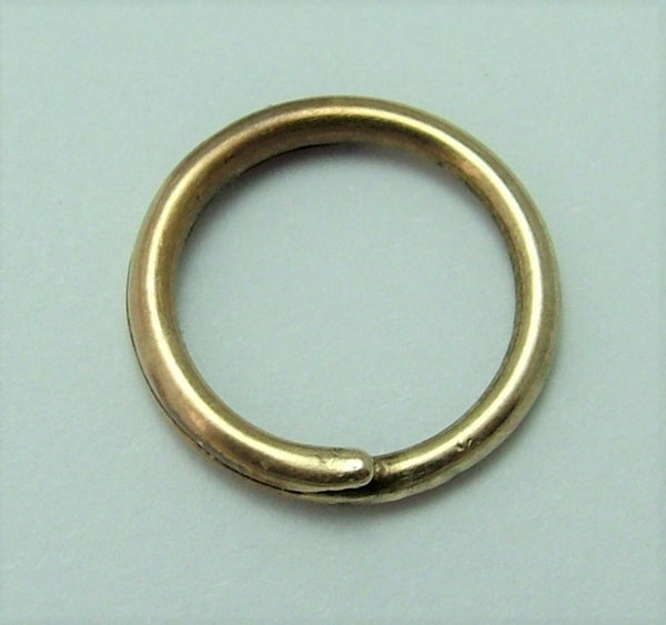 Antique Victorian Solid 15ct Gold Split Ring for Fobs & Charms 11mm Antique Charm - Sandy's Vintage Charms