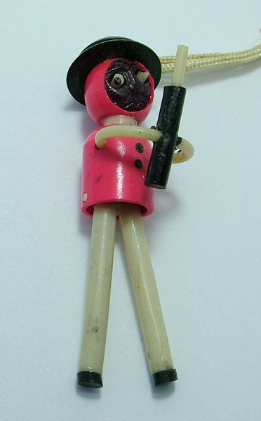 Vintage 1940's Plastic Japanese Kobe Soldier Charm With Pop Out Eyes