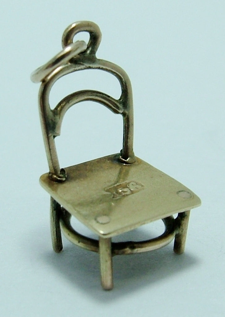 Small 1930's 9ct Gold Chair Charm Gold Charm - Sandy's Vintage Charms