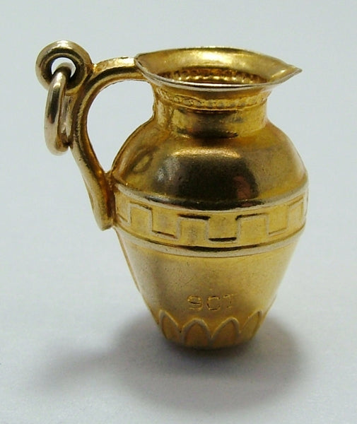 1930's/40's Hollow 9ct Gold Ewer or Jug Charm Gold Charm - Sandy's Vintage Charms