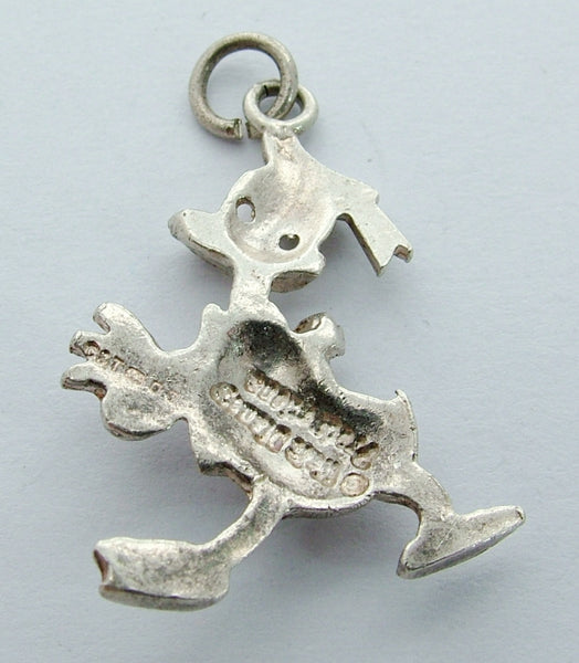 1970's Silver Walt Disney Productions Charm of DONALD DUCK HM 1973 Silver Charm - Sandy's Vintage Charms