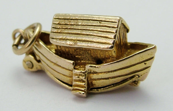 1960's 9ct Gold Opening Noah's Ark Charm - Noah & Animals Inside Gold Charm - Sandy's Vintage Charms
