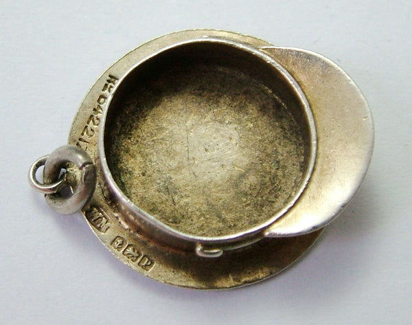 Antique WWI Silver Miniature Military Cap Charm HM 1914 Antique Charm - Sandy's Vintage Charms