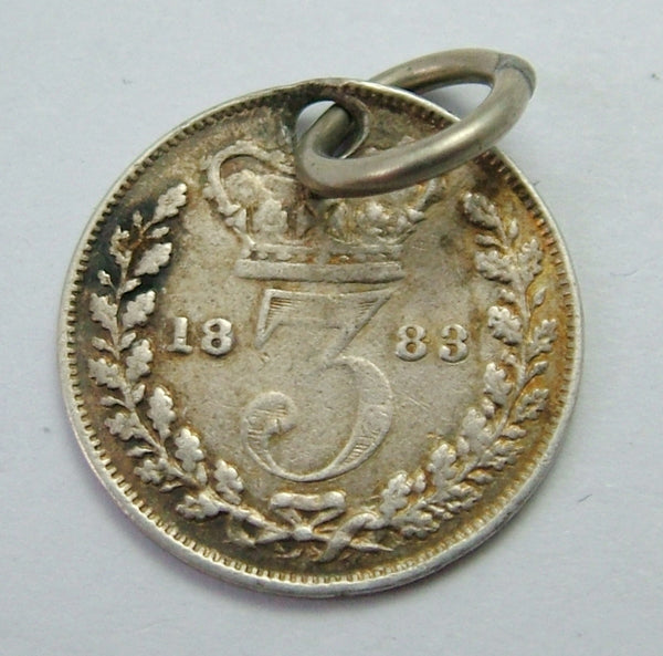 Antique Victorian Silver Engraved Love Token Coin Charm LOO Love Token - Sandy's Vintage Charms