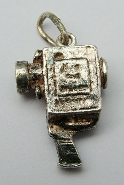Vintage 1960's Nuvo Silver Cine Camera Charm with London Stanhope Nuvo Charm - Sandy's Vintage Charms