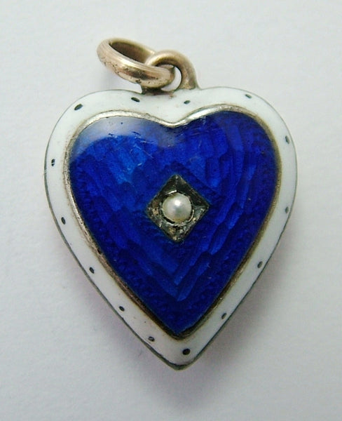 Antique Victorian c1895 9ct Rose Gold & Enamel Puffy Heart Charm Antique Charm - Sandy's Vintage Charms