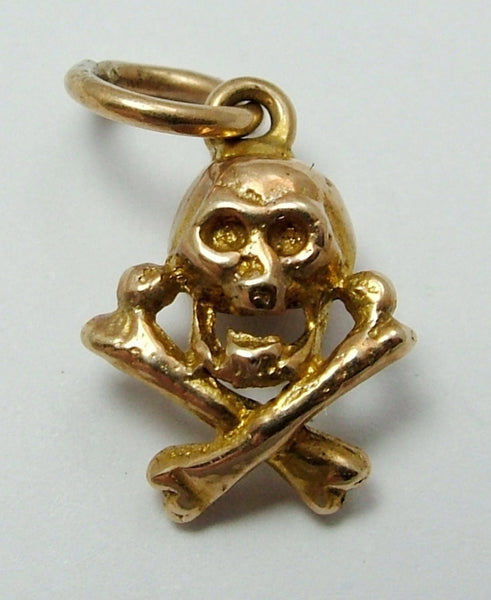 Vintage 1950's 9ct Gold Skull & Crossbones Charm Gold Charm - Sandy's Vintage Charms