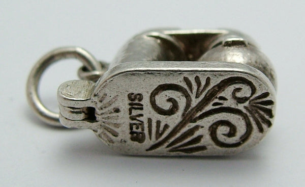 Vintage 1960's Silver Opening Food Mixer Charm Silver Charm - Sandy's Vintage Charms
