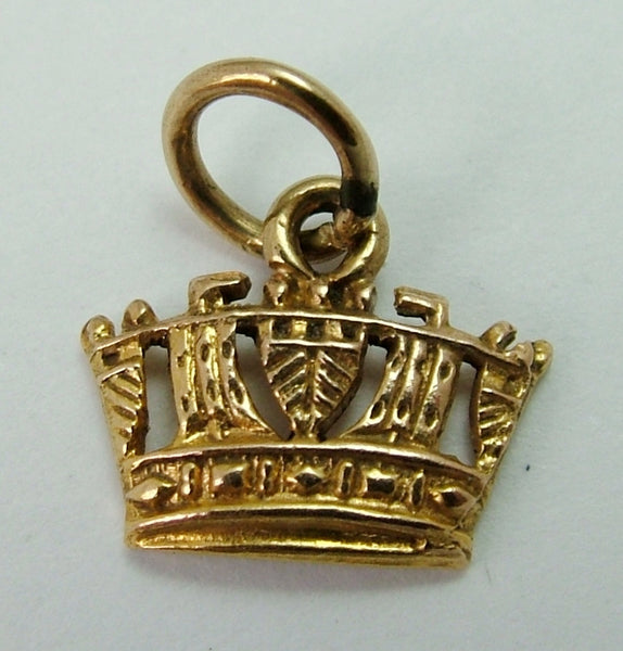 Small Vintage 1950's 9ct Gold Crown Charm Gold Charm - Sandy's Vintage Charms