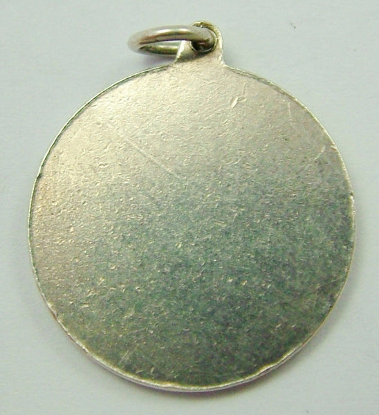 1960's Silver 'Lord's Prayer' Disc Charm Silver Charm - Sandy's Vintage Charms