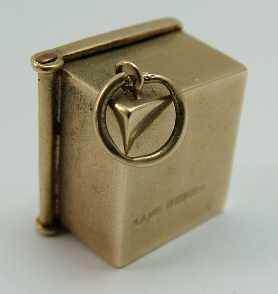 Vintage 1960's 9ct Gold Safe Charm Opens to Ten Shilling Note Gold Charm - Sandy's Vintage Charms