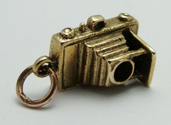 Vintage 1970's 9ct Gold Charm of an Antique Bellows Camera Gold Charm - Sandy's Vintage Charms