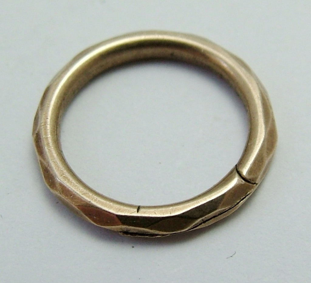 Antique Victorian c1900 Solid 9ct Rose Gold Split Ring for Fobs & Charms 12mm Rose Gold Charm - Sandy's Vintage Charms